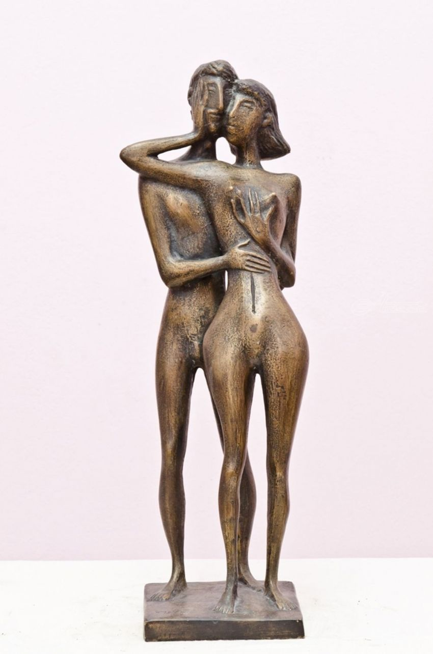 MOMENT, Sculpture, Modernism, Nudes, Bronze, By ZAKIR AHMEDOV