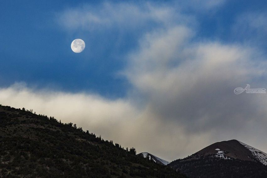 Moon Rise, Photography, Photorealism, Landscape, Photography: Premium Print, By Mike DeCesare