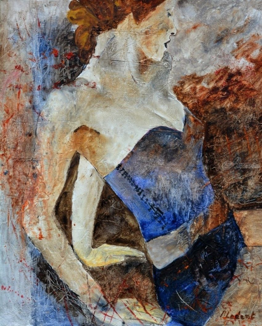 Nude 1106, Paintings, Expressionism, Nudes, Canvas, By Pol Henry Ledent