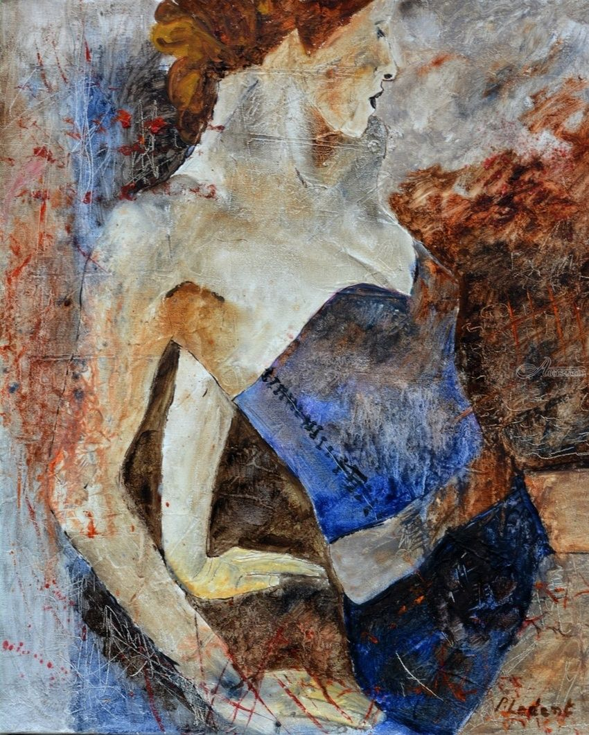nude 1106, Paintings, Expressionism, Erotic, Canvas, By Pol Henry Ledent