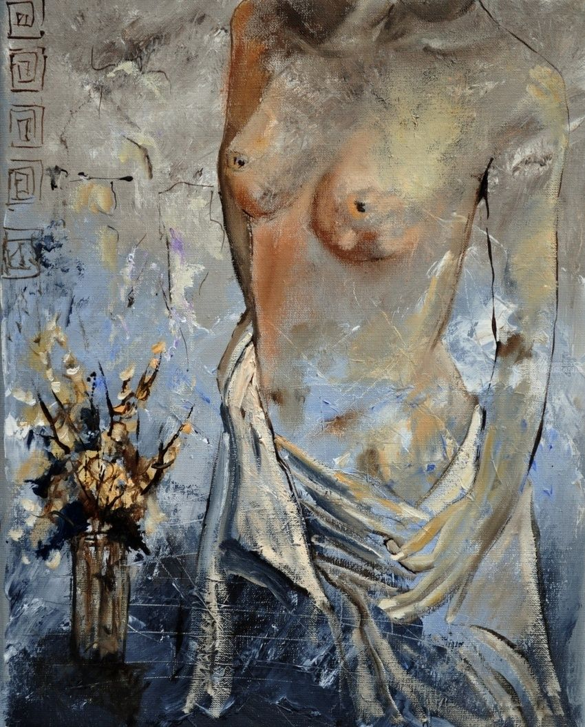 Nude 45411, Paintings, Impressionism, Decorative, Canvas, By Pol Henry Ledent