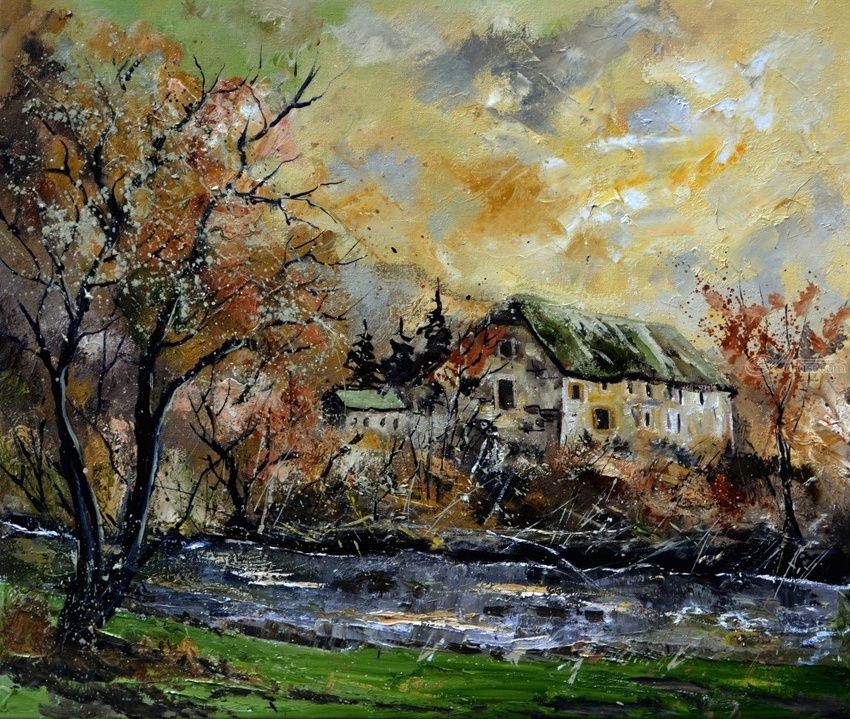 Old Mille in resteigne, Paintings, Impressionism, Landscape, Canvas, By Pol Henry Ledent