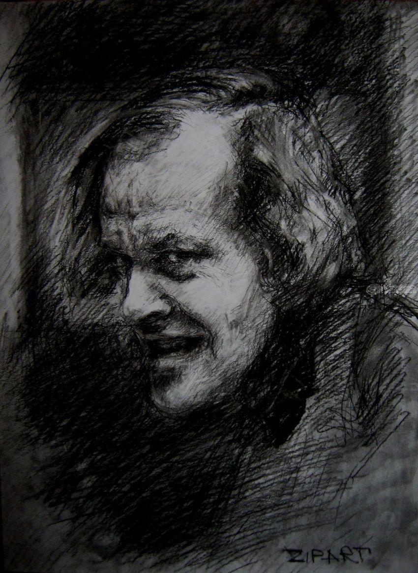 Original charcoal drawing the shining 2 drawings sketch