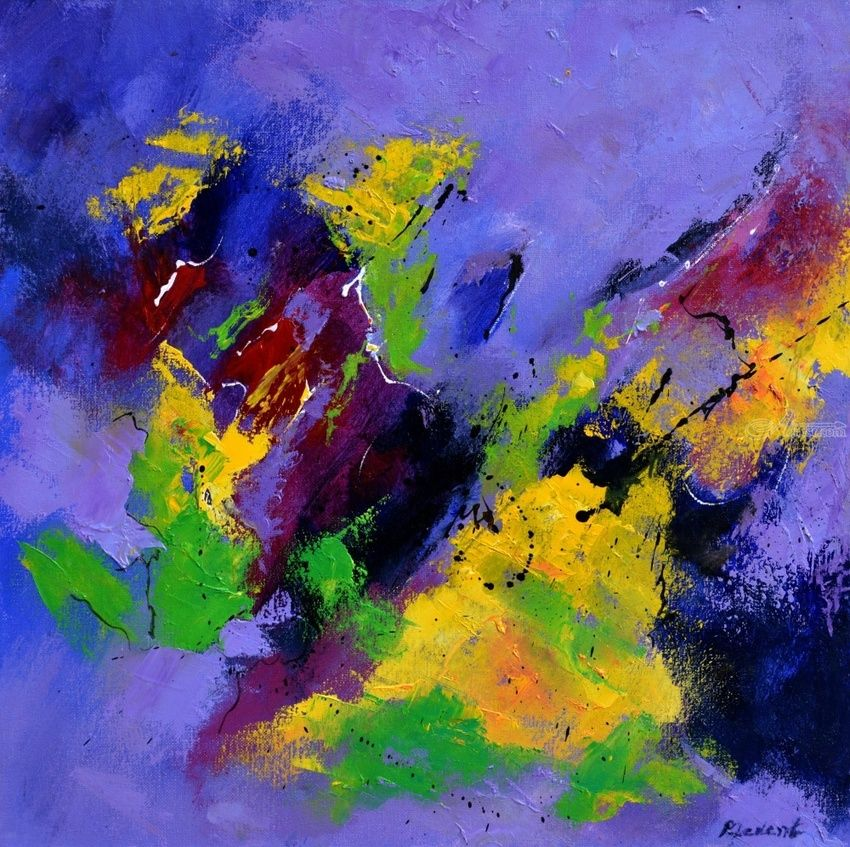 Orlando Furioso, Paintings, Abstract, Decorative, Canvas, By Pol Henry Ledent