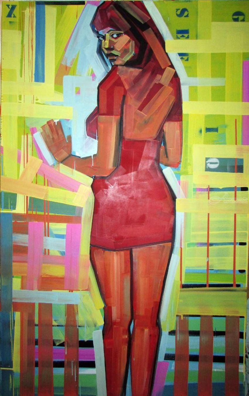 Pro_vocation in no centre, Paintings, Modernism, Erotic, Figurative, Canvas, Oil, Wood, By Piotr Ryszard Kachny