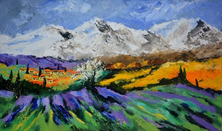 Provence 106, Paintings, Expressionism, Botanical, Canvas, By Pol Henry Ledent