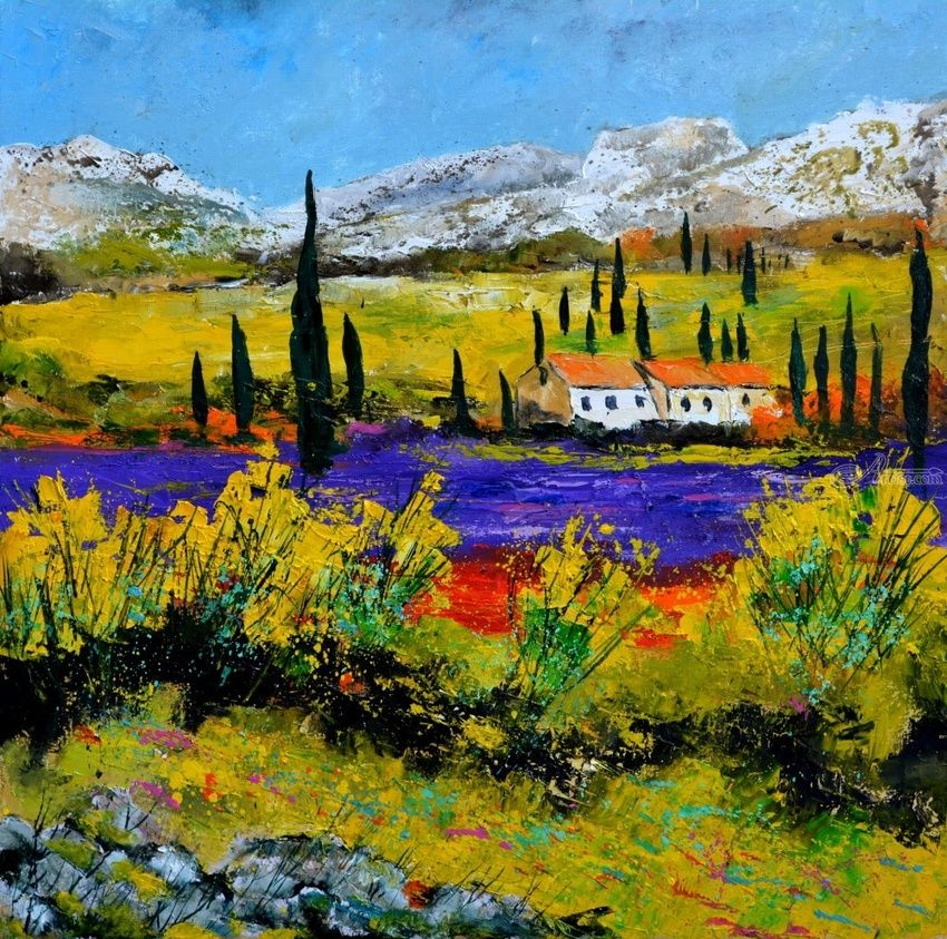 Provence 56, Paintings, Expressionism, Decorative, Canvas, By Pol Henry Ledent