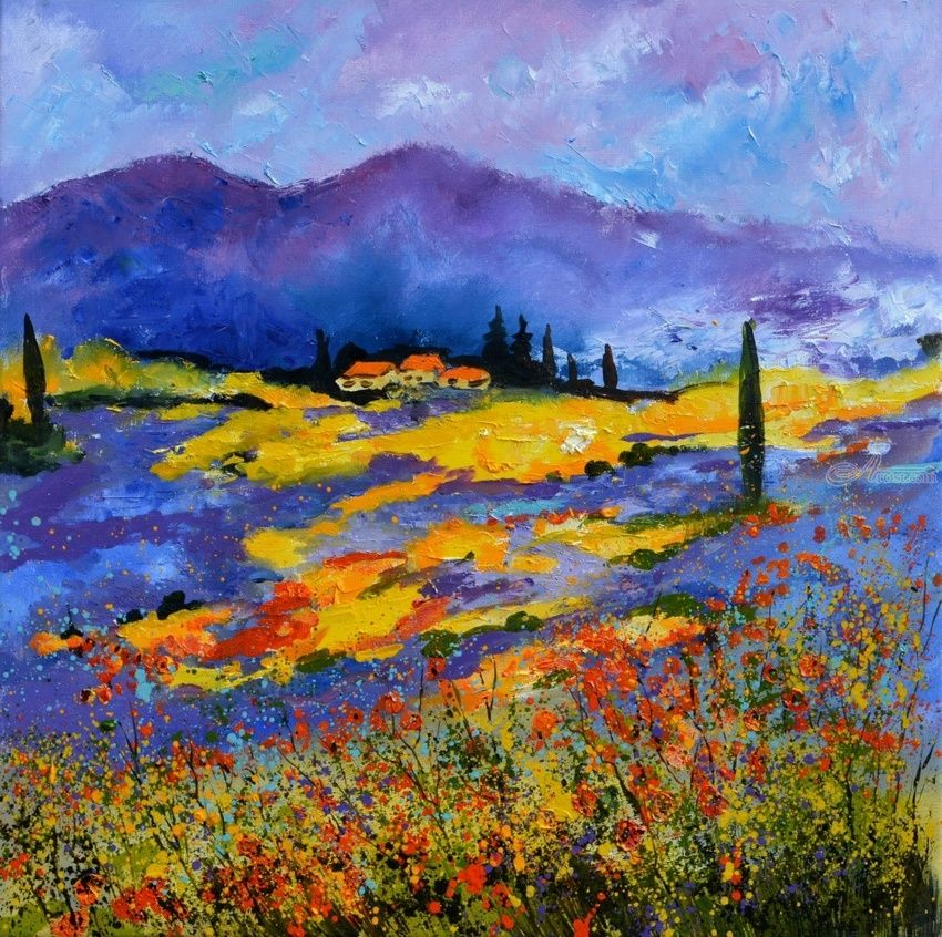 Provence 8871501, Paintings, Expressionism, Landscape, Canvas, By Pol Henry Ledent