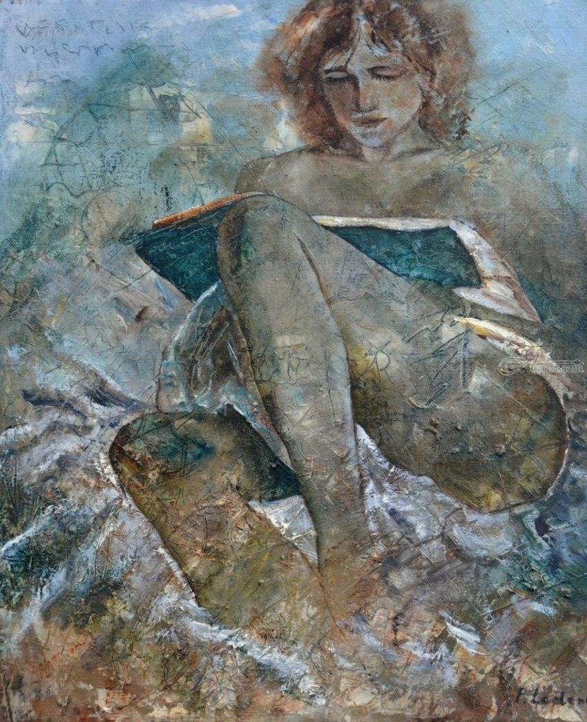 Reading, Paintings, Impressionism, Figurative, Canvas, By Pol Henry Ledent