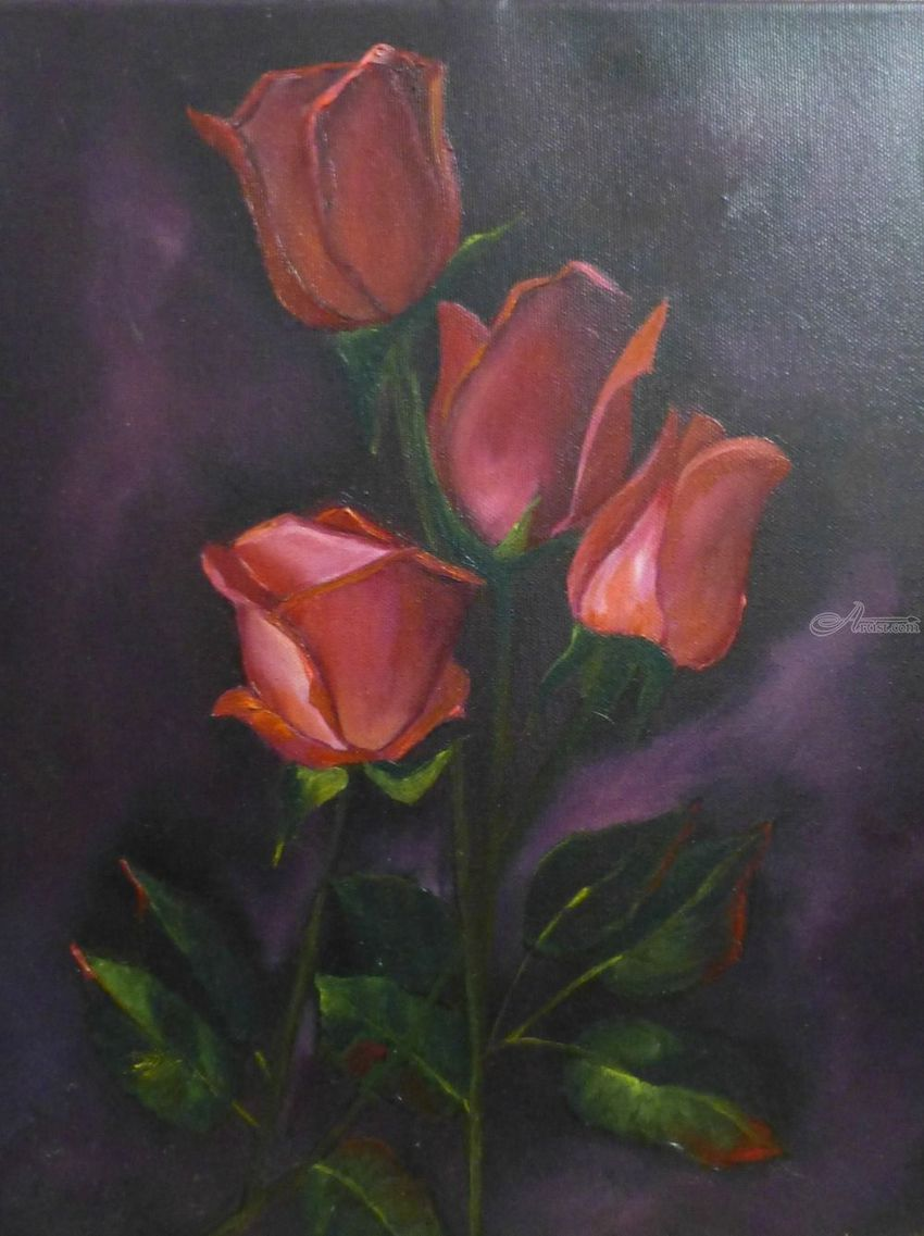 Red Roses Paintings By Shakiba Shayegan Shokouh Artist Com