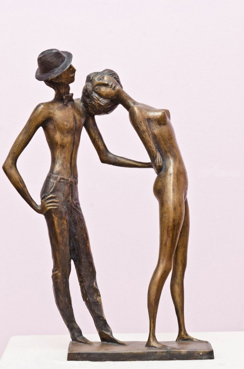 Retro, Sculpture, Modernism, Nudes, Bronze, By ZAKIR AHMEDOV