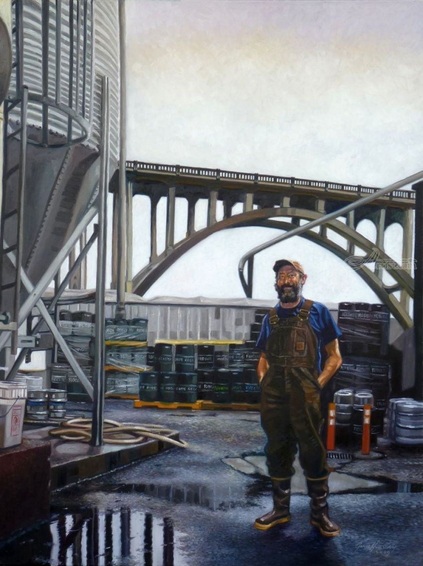 Rogue Brewer, Paintings, Realism, Figurative, Oil, By Gregg Hinlicky