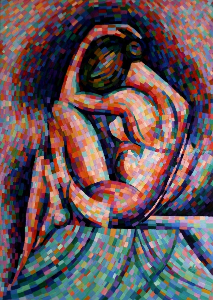 Roundism - 06-07-16, Paintings, Abstract,Cubism,Realism,Surrealism, Anatomy,Composition,Erotic,Figurative,Inspirational,Nudes,People, Oil, By Corne Akkers