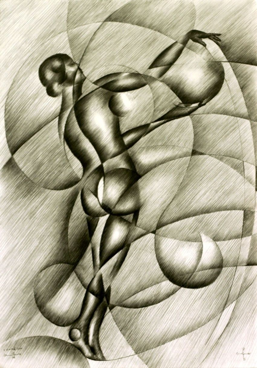 Roundism - 22-09-14, Drawings / Sketch, Abstract, Cubism, Surrealism, Anatomy, Composition, Erotic, Figurative, Inspirational, Nudes, People, Pencil, By Corne Akkers