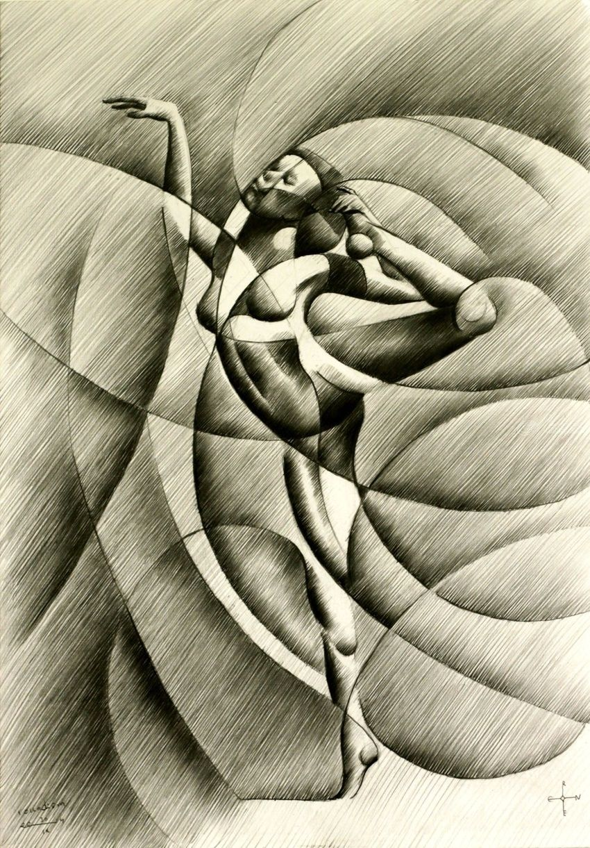 Roundism - 30-09-14, Drawings / Sketch, Abstract,Cubism,Fine Art,Impressionism,Realism,Surrealism, Anatomy,Composition,Erotic,Figurative,Inspirational,Nudes,People, Pencil, By Corne Akkers