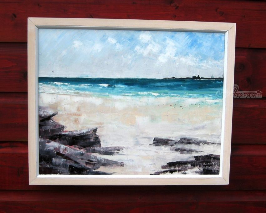 Sandpipers on Scuthvie Beach Paintings by Bill McArthur