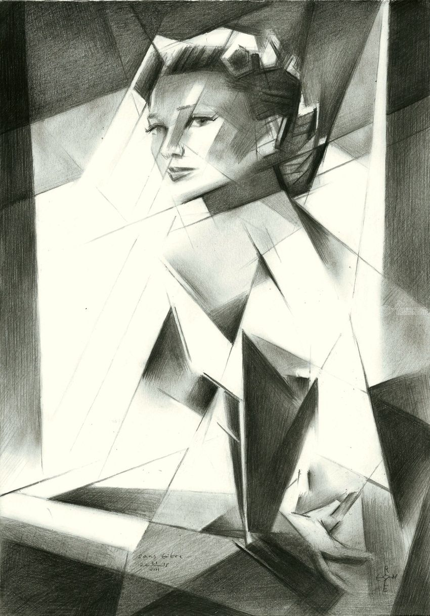 Sans titre - 21-08-15, Drawings / Sketch, Abstract,Cubism,Fine Art,Impressionism,Realism,Surrealism, Anatomy,Composition,Figurative,Inspirational,People,Portrait, Pencil, By Corne Akkers