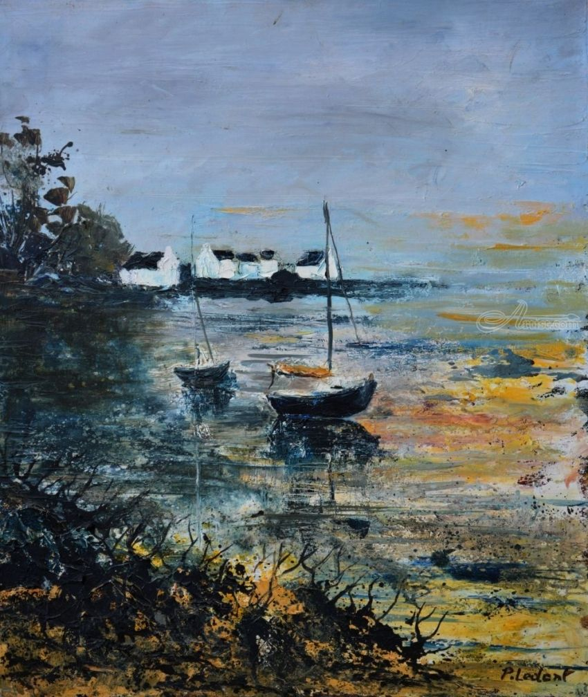 seascape 486, Paintings, Expressionism, Landscape, Canvas, By Pol Henry Ledent