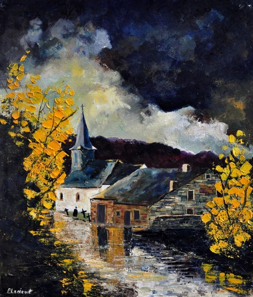 sensenruth, Paintings, Expressionism, Landscape, Canvas, By Pol Henry Ledent
