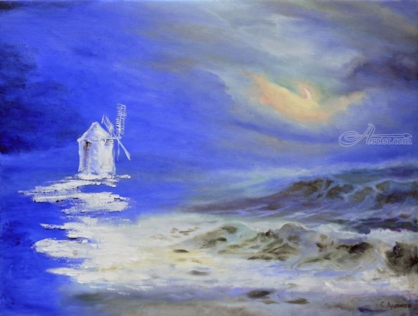 Sequel to the, Paintings, Realism,Surrealism, Seascape, Canvas,Oil, By Sergey Sergeevich Lutsenko