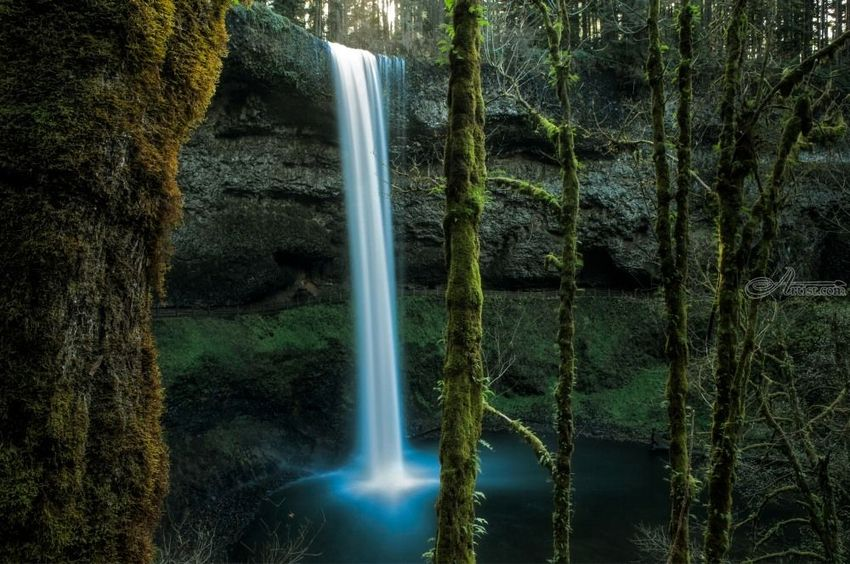 Silver Falls, Photography, Photorealism, Landscape, Seascape, Photography: Photographic Print, By Mike DeCesare