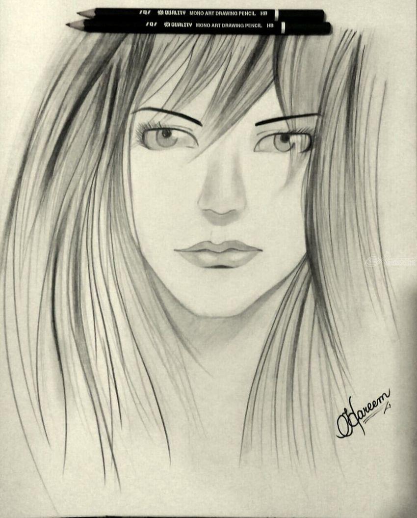 Sketch drawings sketch fine art portrait pencil by hareem sulaiman