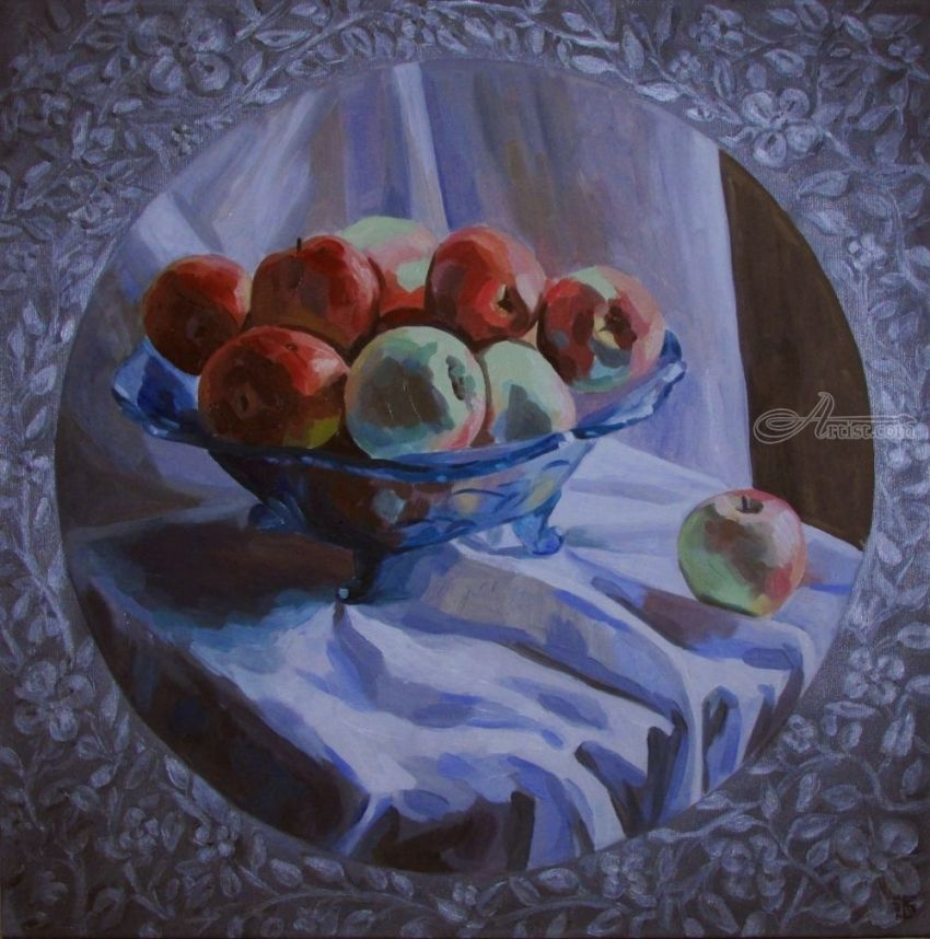 Snow Calvile, Paintings, Fine Art, Photorealism, Realism, Floral, Still Life, Canvas, Oil, By Kateryna Bortsova
