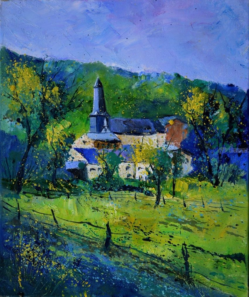 Spring in Belgium, Paintings, Expressionism, Decorative, Canvas, By Pol Henry Ledent