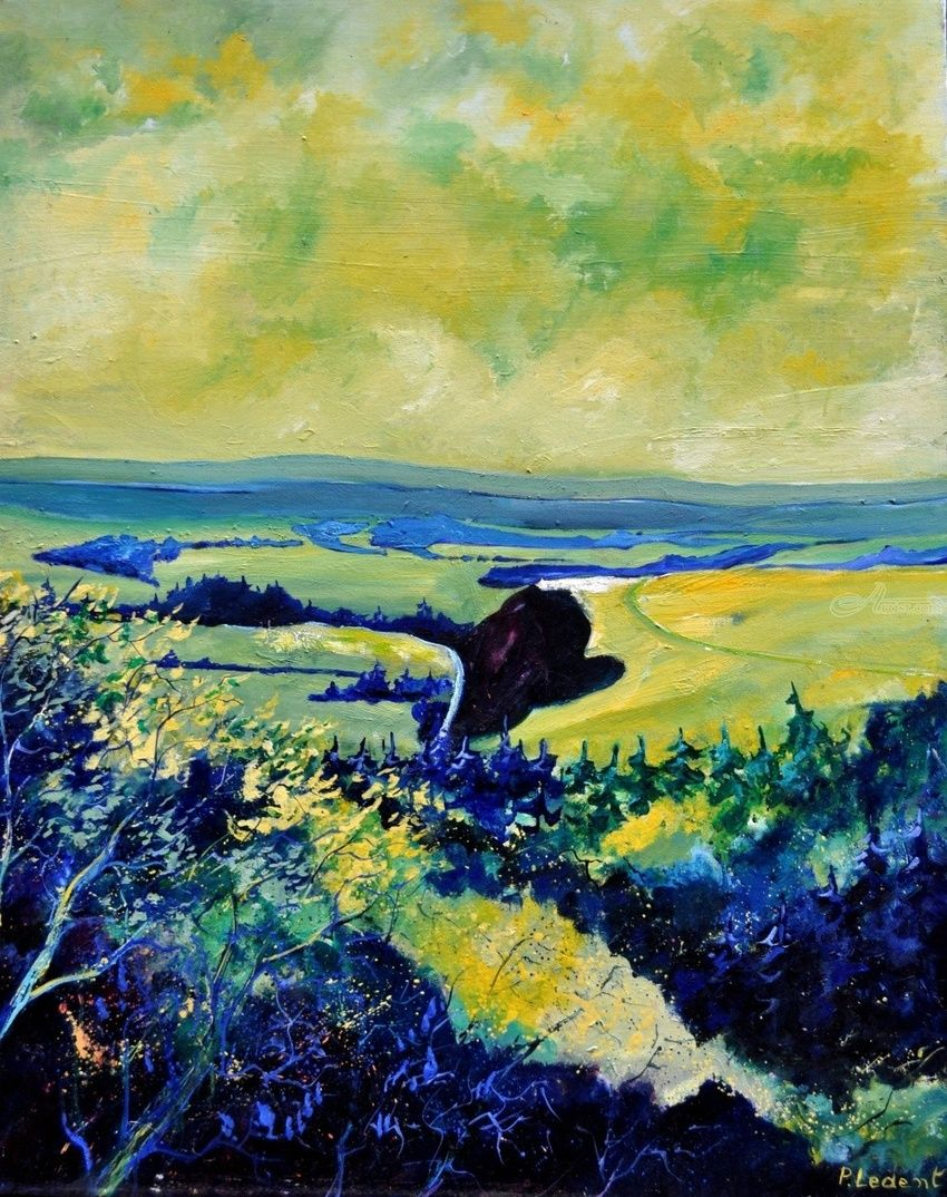 Spring in Famenne, Paintings, Expressionism, Landscape, Canvas, By Pol Henry Ledent