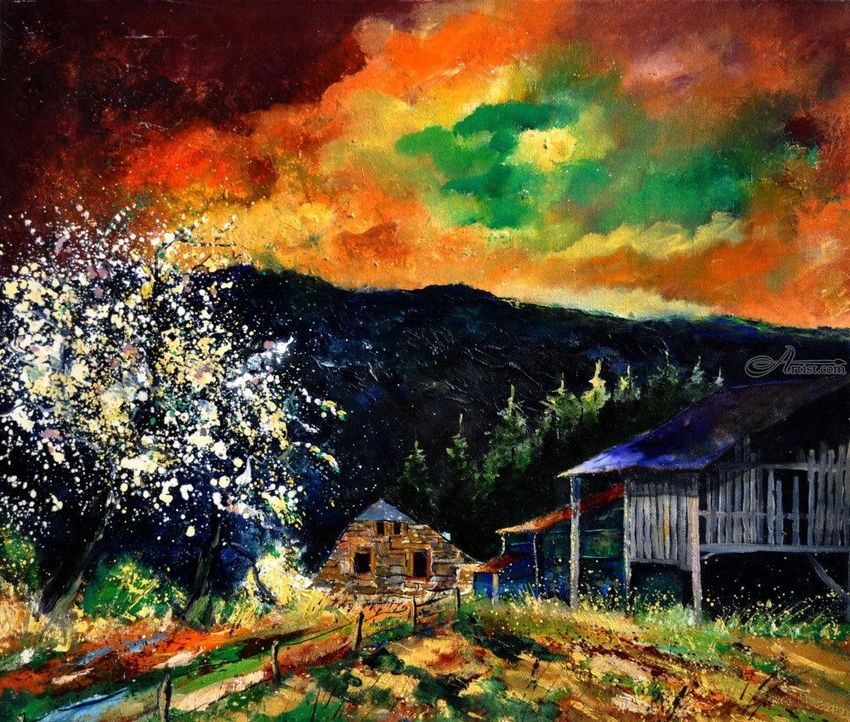 spring in frahan, Paintings, Expressionism, Landscape, Canvas, By Pol Henry Ledent