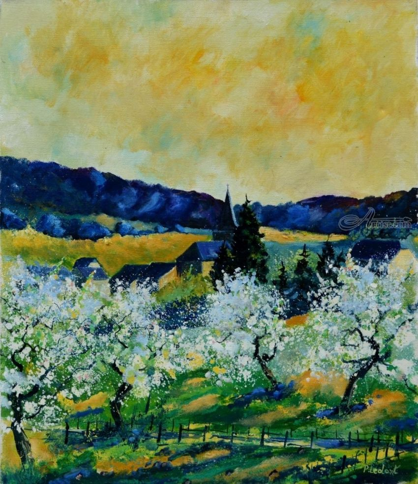 Spring in Monceau, Paintings, Expressionism, Land Art, Canvas, By Pol Henry Ledent