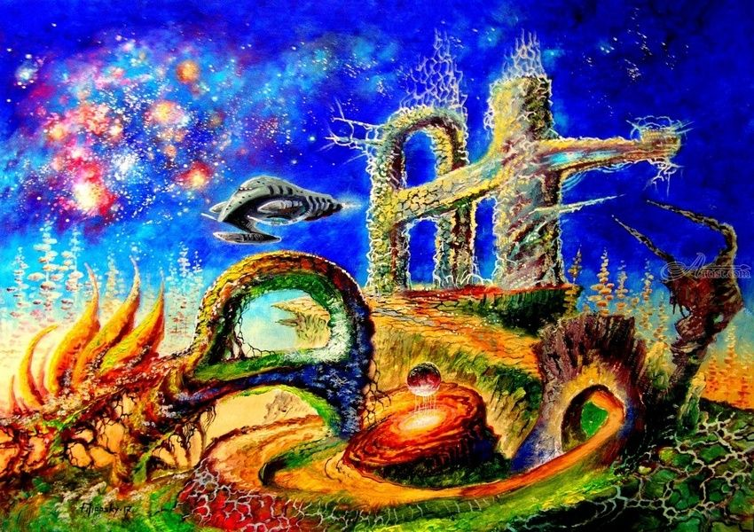 Starry Ruins Paintings By Victor Filippsky Artist Com