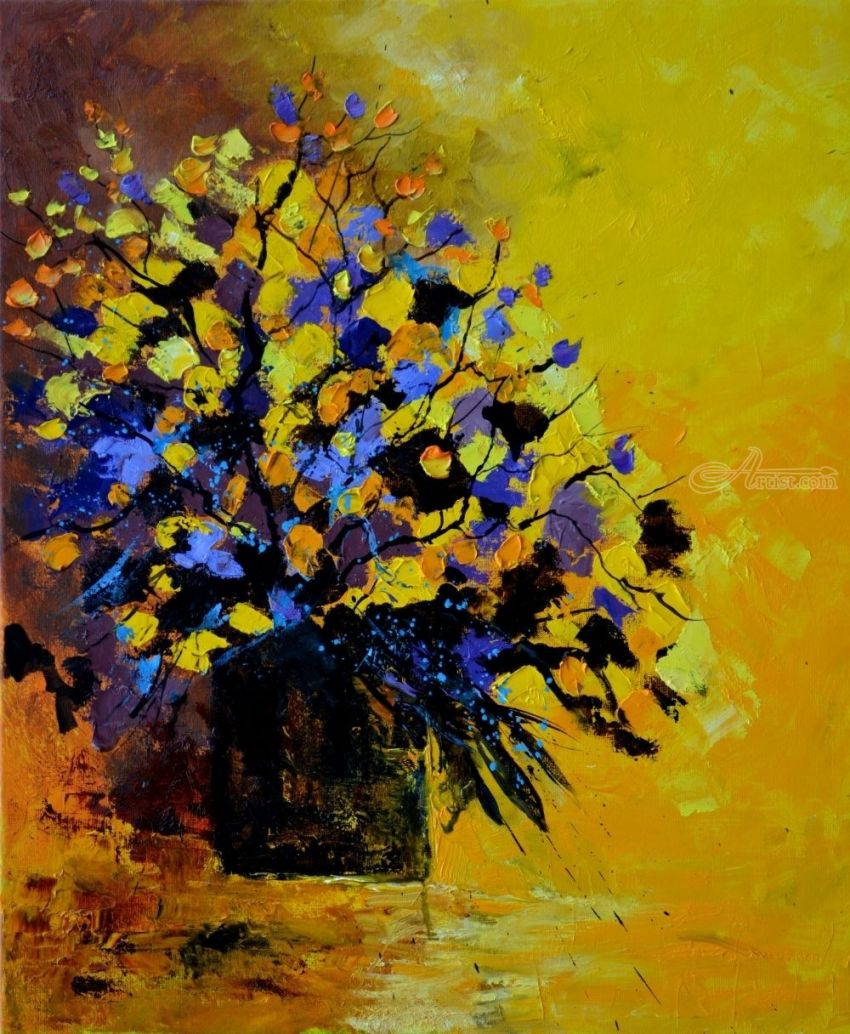 still life 487, Paintings, Impressionism, Landscape, Canvas, By Pol Henry Ledent