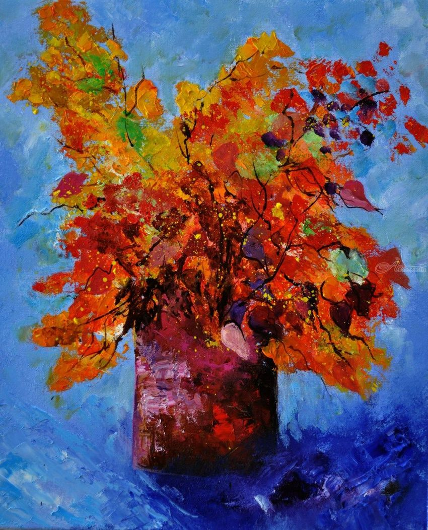 still life autumn, Paintings, Impressionism, Still Life, Canvas, By Pol Henry Ledent
