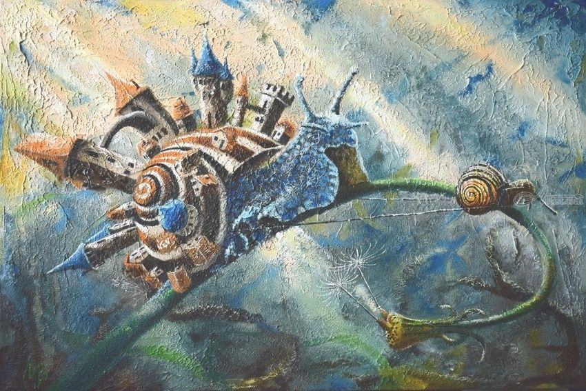 Strong Hauler. Nikolay Velikiy 2017, Paintings, Expressionism,Impressionism,Symbolism, Fantasy,Inspirational, Canvas,Oil, By Nikolay Velikiy