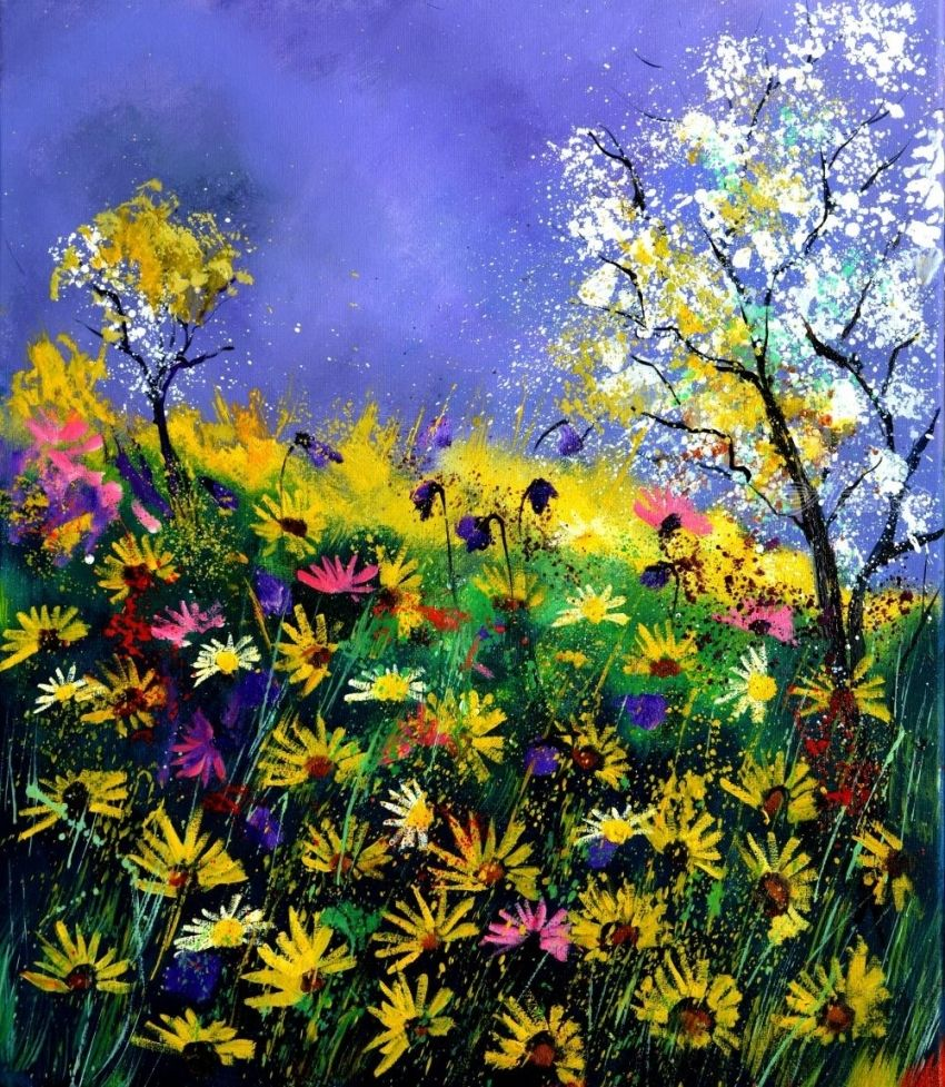 summer daisies, Paintings, Impressionism, Nature, Canvas, By Pol Henry Ledent