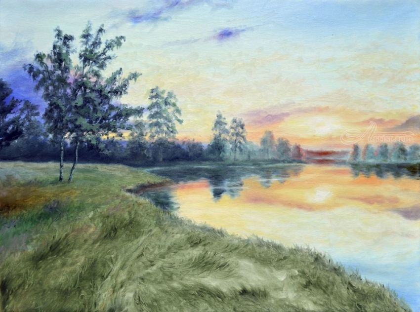 Summer evening Paintings by Sergey Lutsenko - Artist com
