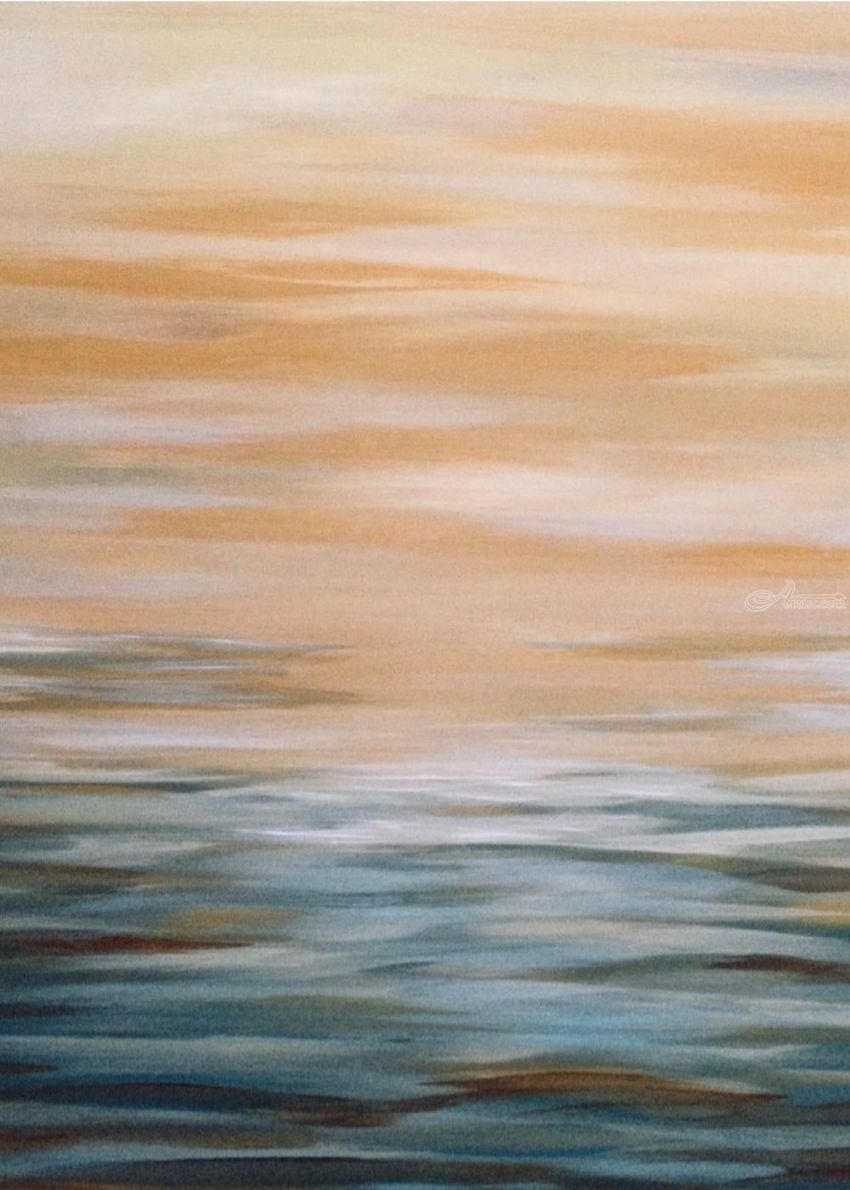 Sunset Beach, Paintings, Abstract, Decorative, Acrylic, By Judith Cahill
