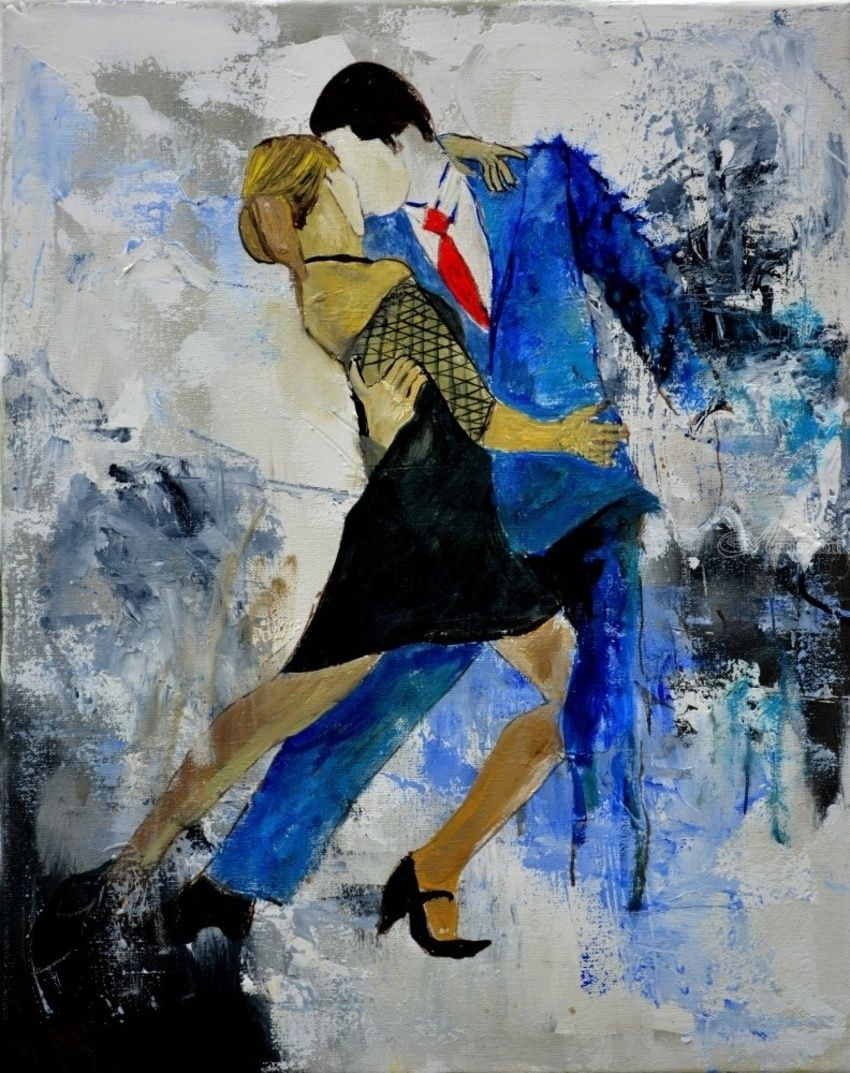 Tango, tango, Paintings, Expressionism, Dance, Canvas, By Pol Henry Ledent