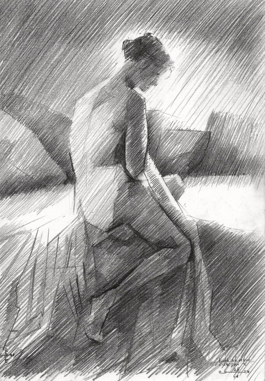 The birth of new cubism 2 - 28-04-14, Drawings / Sketch, Abstract,Cubism,Fine Art,Impressionism,Realism, Anatomy,Erotic,Figurative,Inspirational,Nudes,People, Pencil, By Corne Akkers