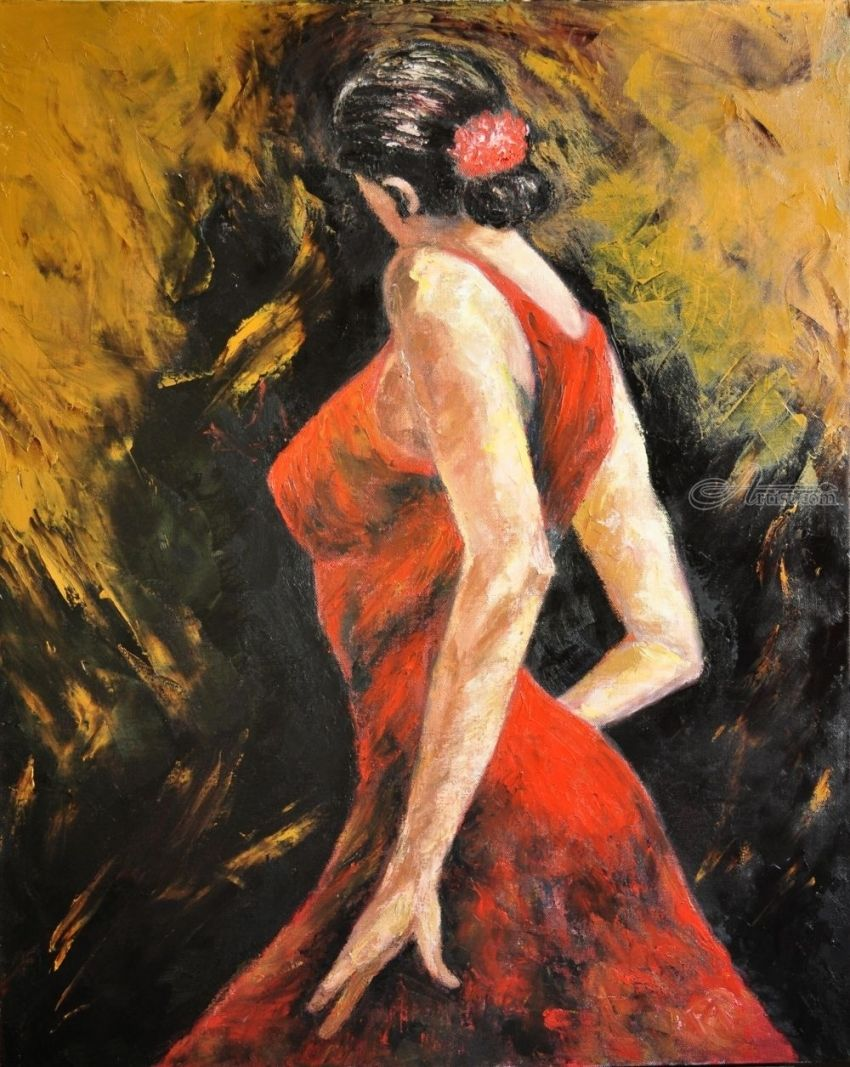The dance of love - Tango #1, Paintings, Fine Art, Figurative, Oil, By Terry Sita