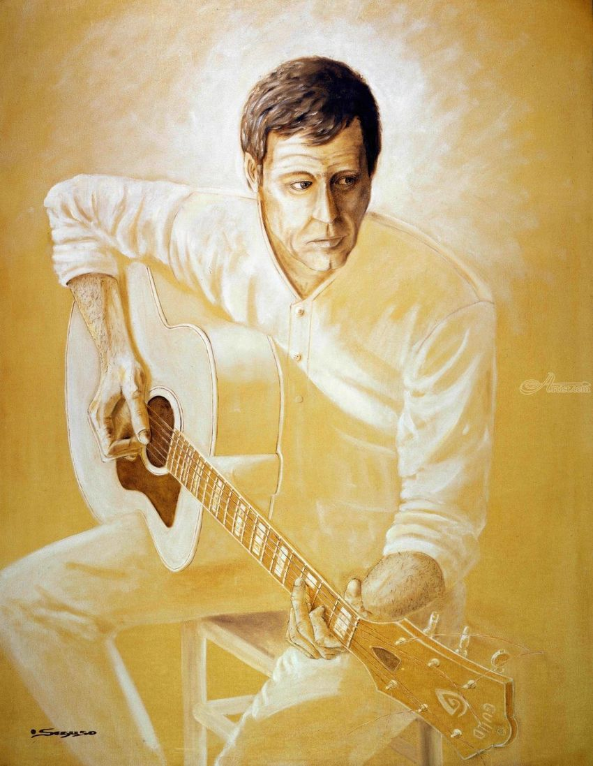 The Musician, Paintings, Fine Art, Realism, Romanticism, Figurative, Inspirational, Music, Portrait, Oil, By Rick Seguso