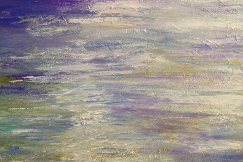 Thunder Lake, Paintings, Abstract, Decorative, Acrylic, By Judith Cahill