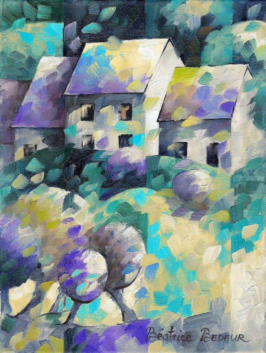 Tiny House 038 Paintings Abstract Fine Art Landscape Canvas By