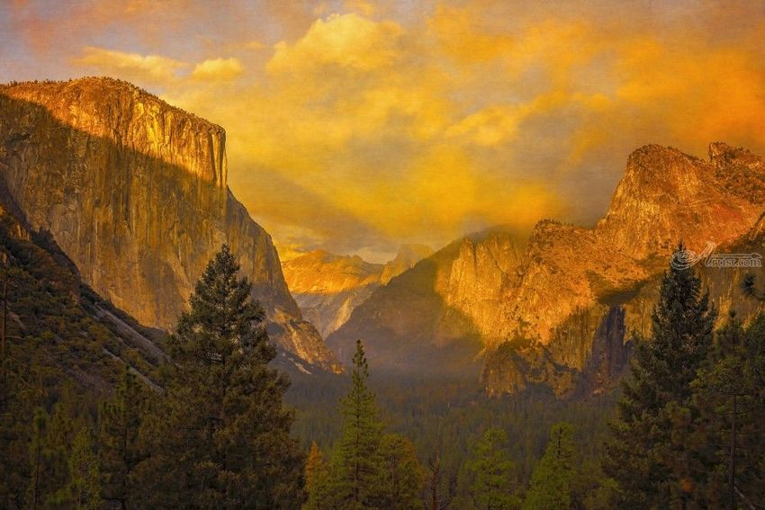 Tunnel View, Photography, Fine Art, Realism, Landscape, Digital, By Mike DeCesare