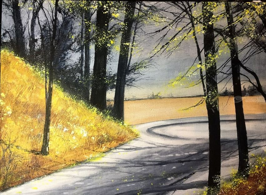 untitled, Paintings, Impressionism, Landscape, Watercolor, By Stephen Keller
