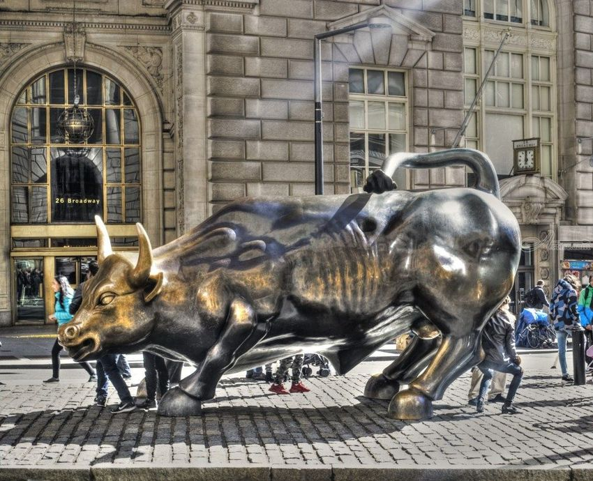 Wall Street Bull, Digital Art / Computer Art,Photography, Fine Art,Pop Art, Animals,Daily Life,Historical,Window on the World, Digital, By Timothy Lowry