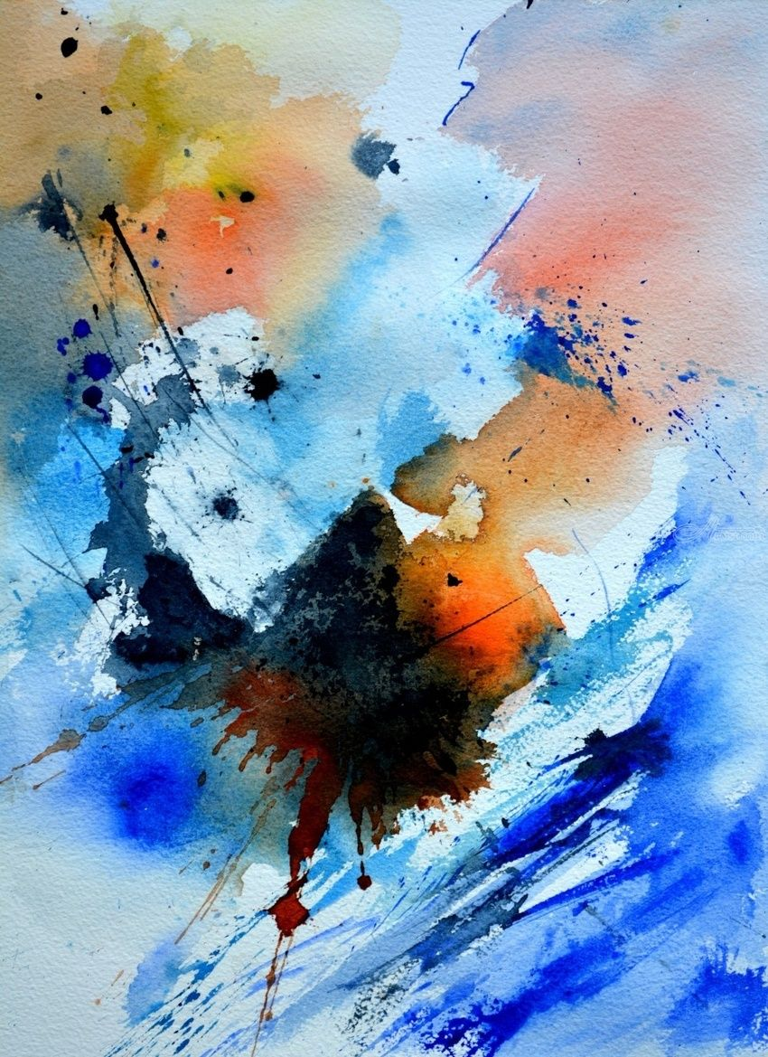watercolor 1171, Paintings, Abstract, Decorative, Watercolor, By Pol Henry Ledent