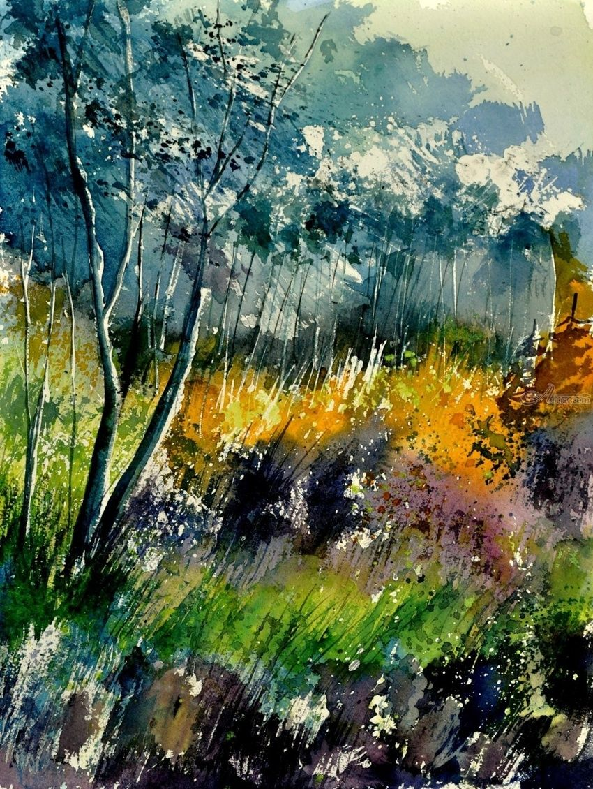 watercolor 216050, Paintings, Impressionism, Landscape, Painting, By Pol Henry Ledent