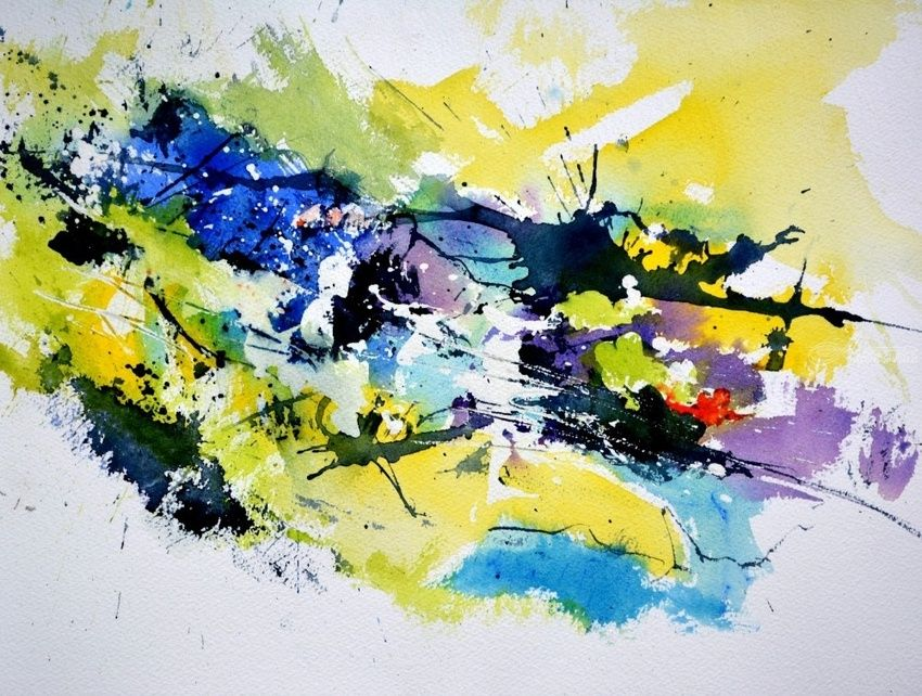 watercolor 371, Paintings, Abstract, Decorative, Watercolor, By Pol Henry Ledent